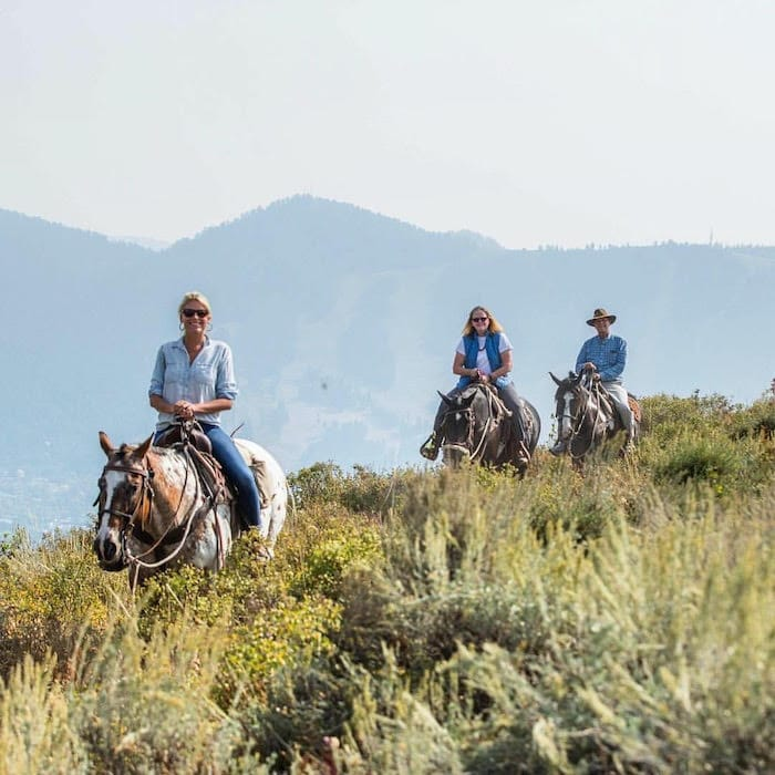 Jackson Hole - Horseback Riding with parents