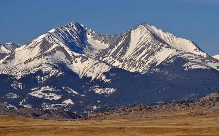 Mountain in Crazy Mountains Montana