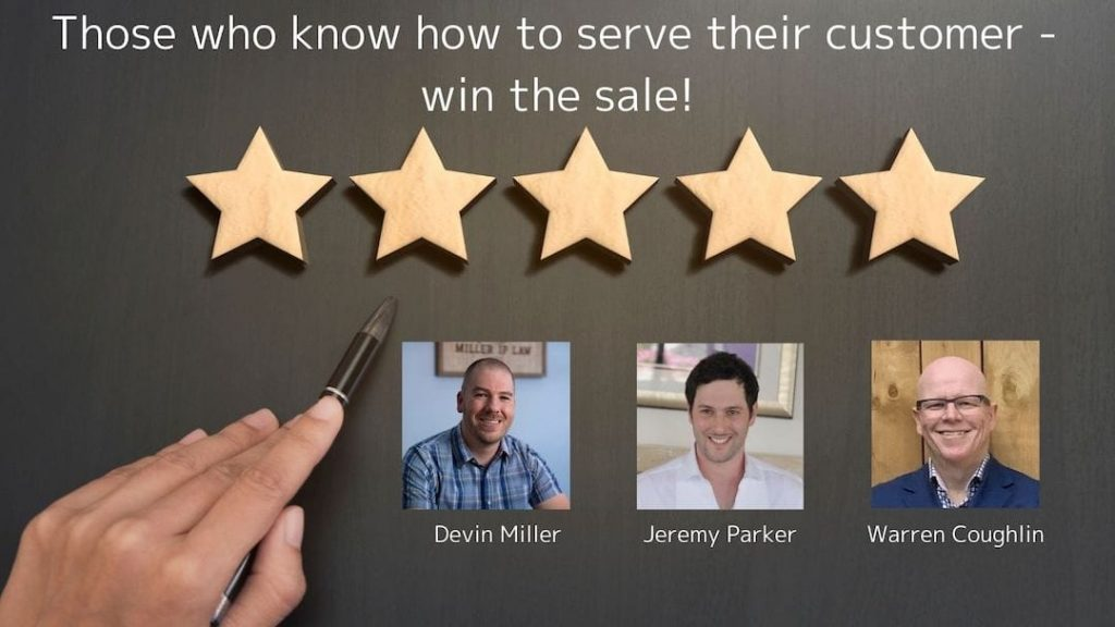Those who know how to serve their customer - win the sale!