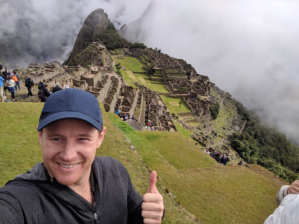 Jeremy on Machu Picchu Mountain
