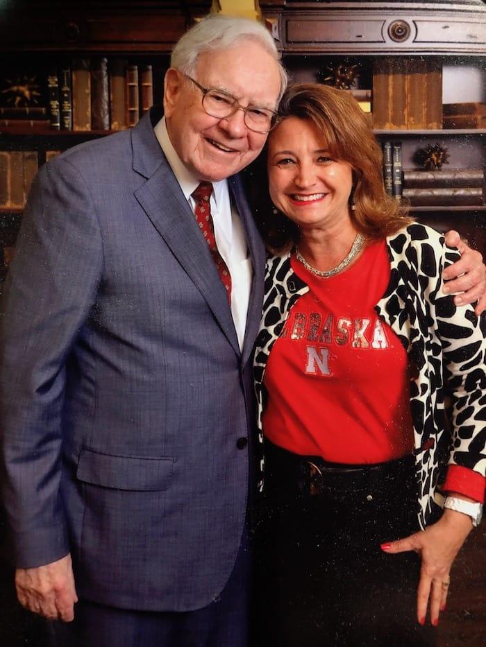 Pam Goodwin with Warren Bufett
