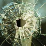 Post November 21st 2019 - bullet hole on glass making cracks